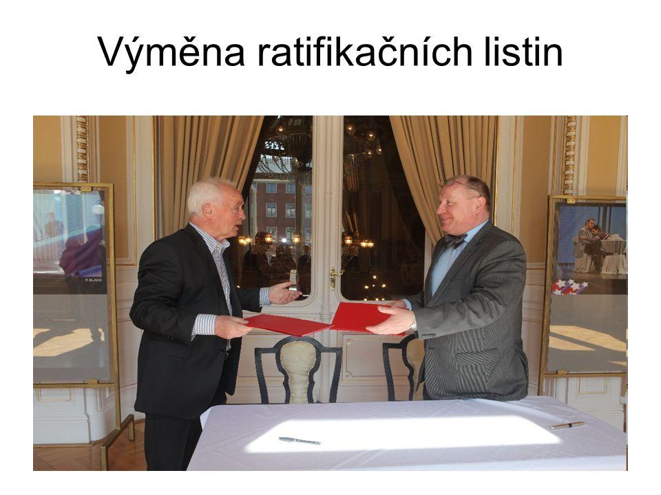 Výměna ratifikačních listin