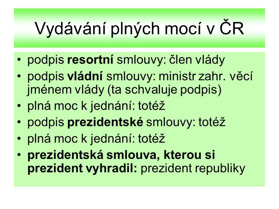 Vydávání plných mocí v ČR