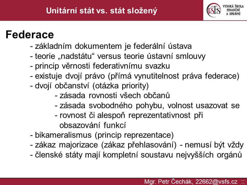 Unitární stát vs. stát složený