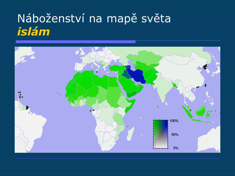 Náboženství na mapě světa islám