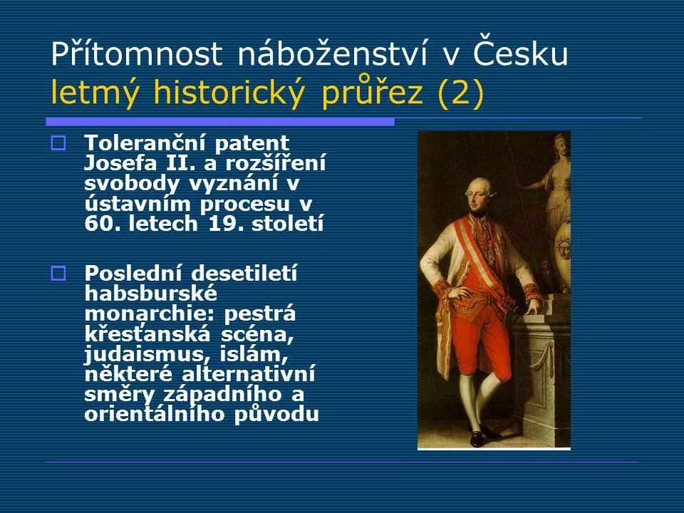 Přítomnost náboženství v Česku letmý historický průřez (2)