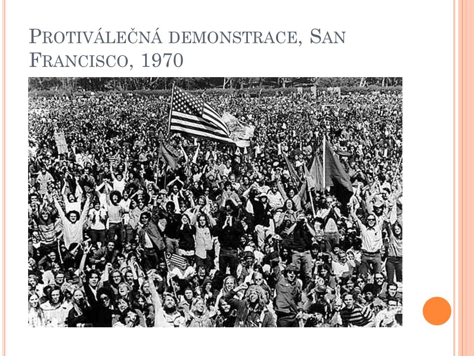 Protiválečná demonstrace, San Francisco, 1970