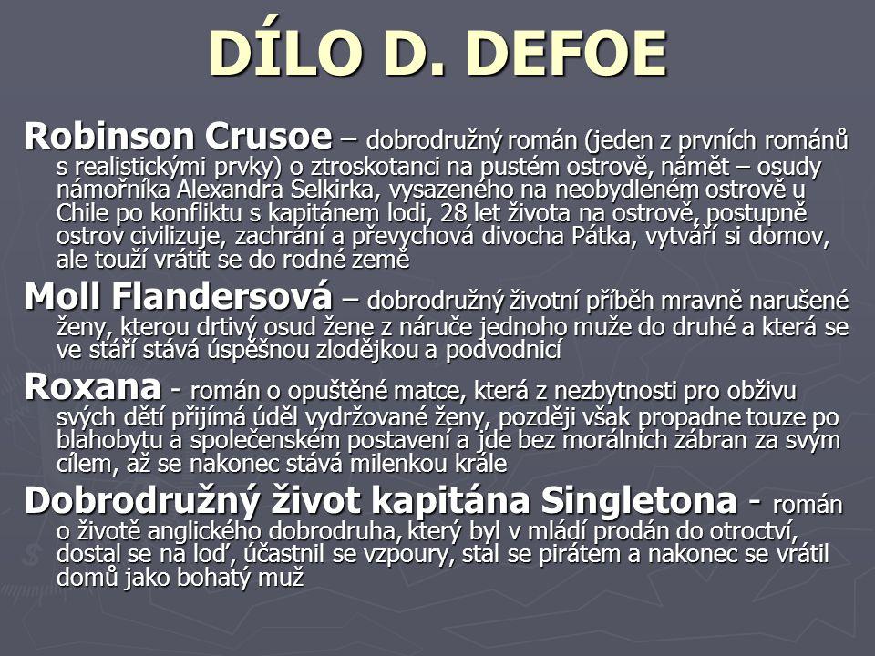 DÍLO D. DEFOE
