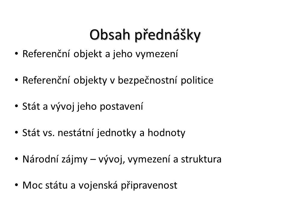 Obsah přednášky Referenční objekt a jeho vymezení