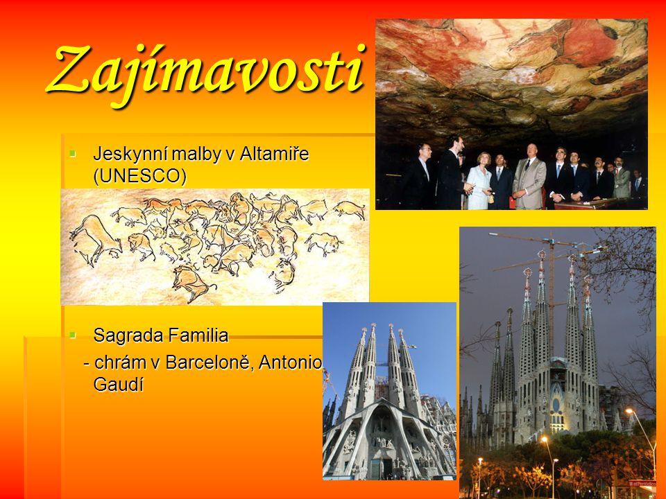 Zajímavosti Jeskynní malby v Altamiře (UNESCO) Sagrada Familia