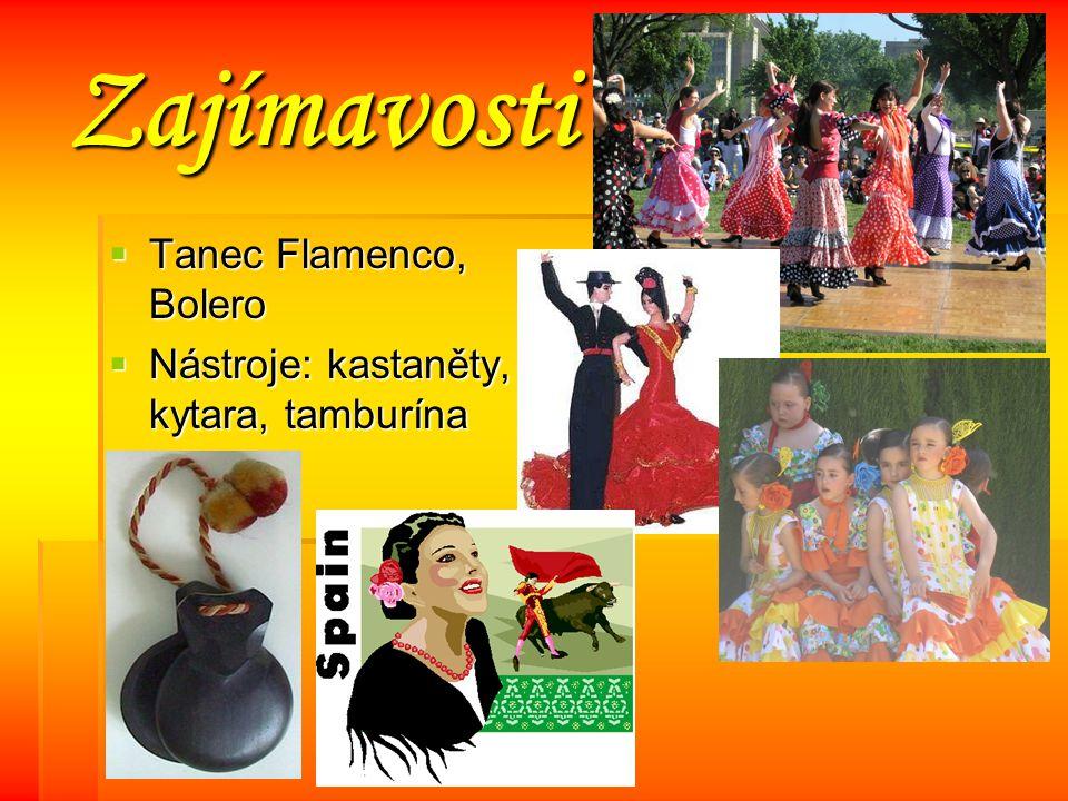 Zajímavosti Tanec Flamenco, Bolero