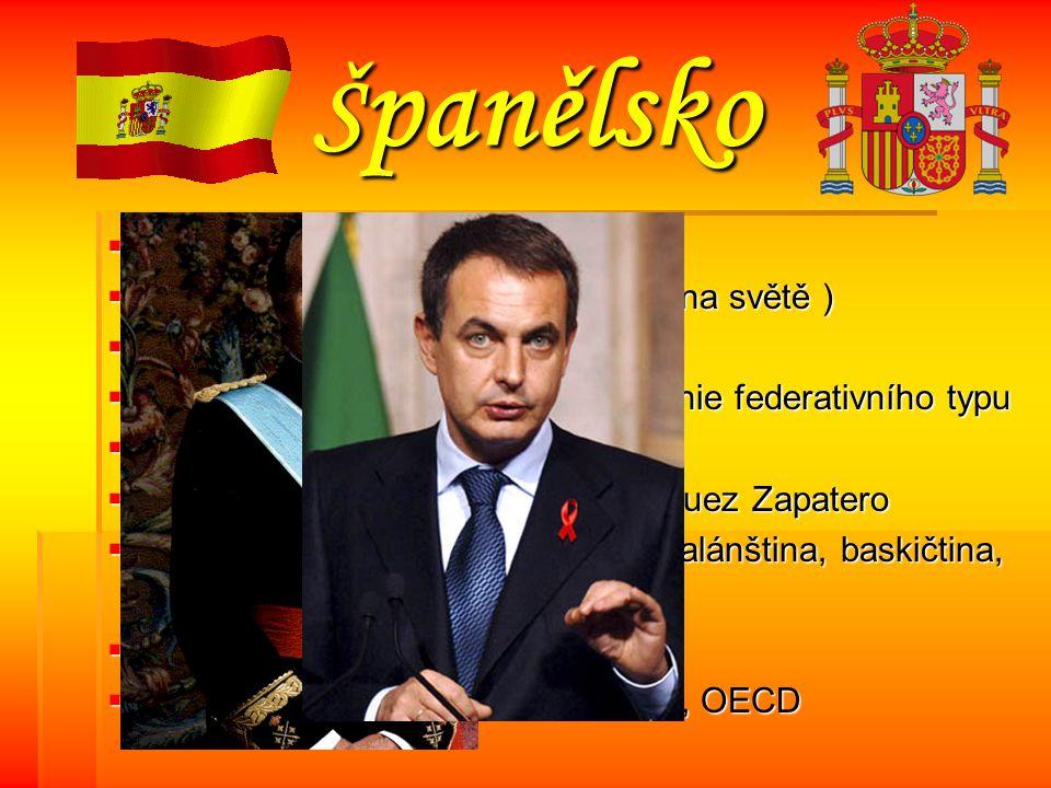 Španělsko Hlavní město: Madrid