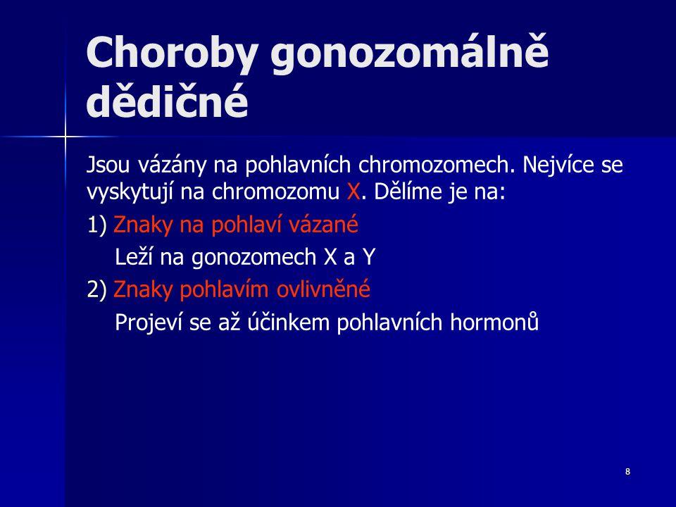 Choroby gonozomálně dědičné