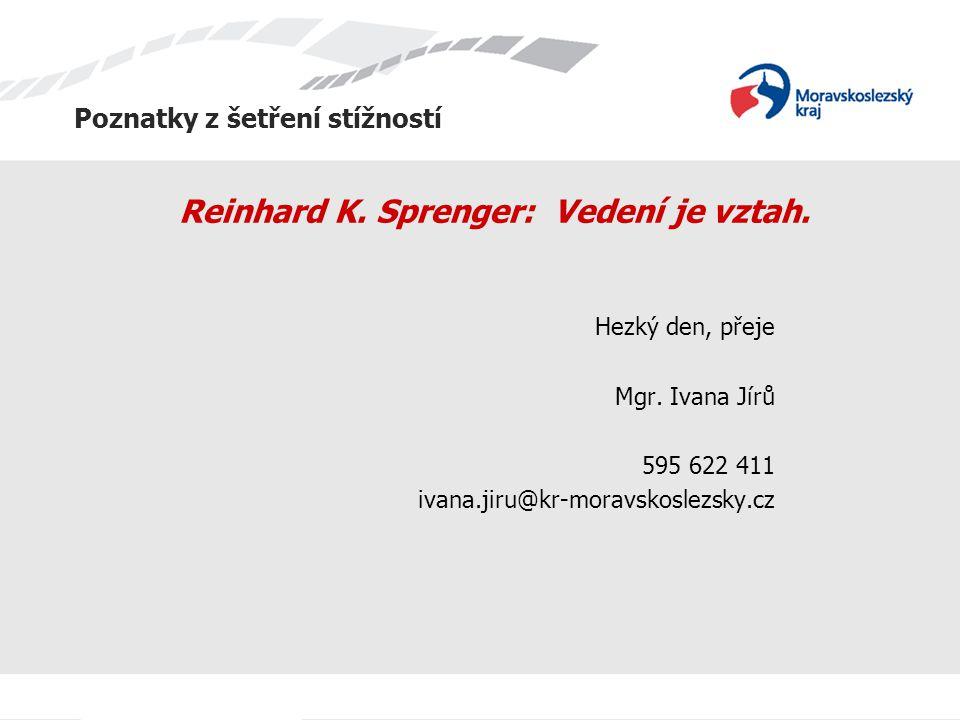 Reinhard K. Sprenger: Vedení je vztah.