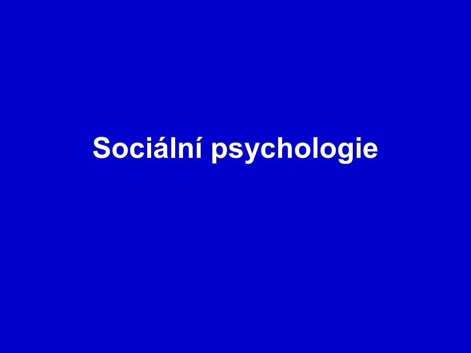 Sociální psychologie