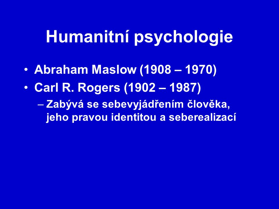 Humanitní psychologie