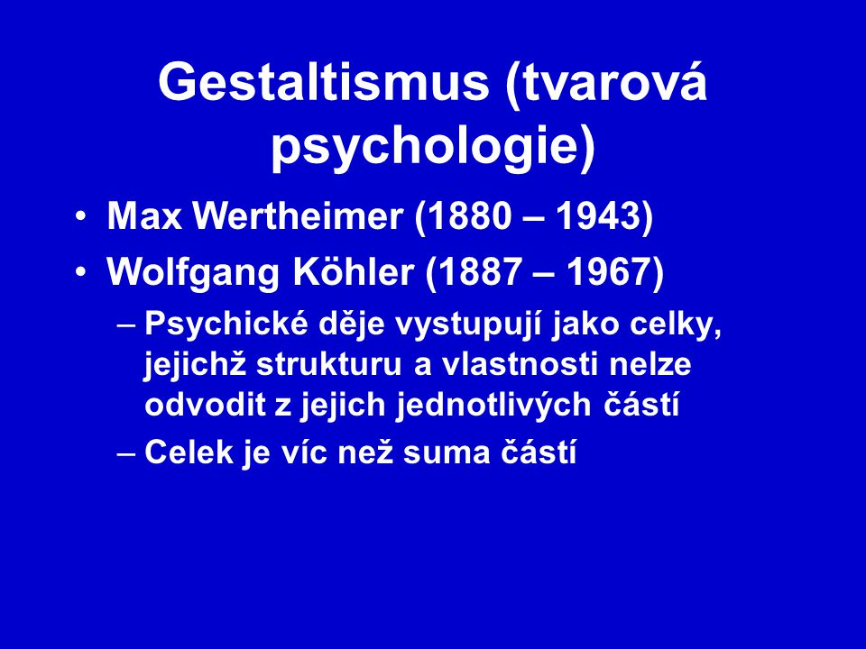 Gestaltismus (tvarová psychologie)