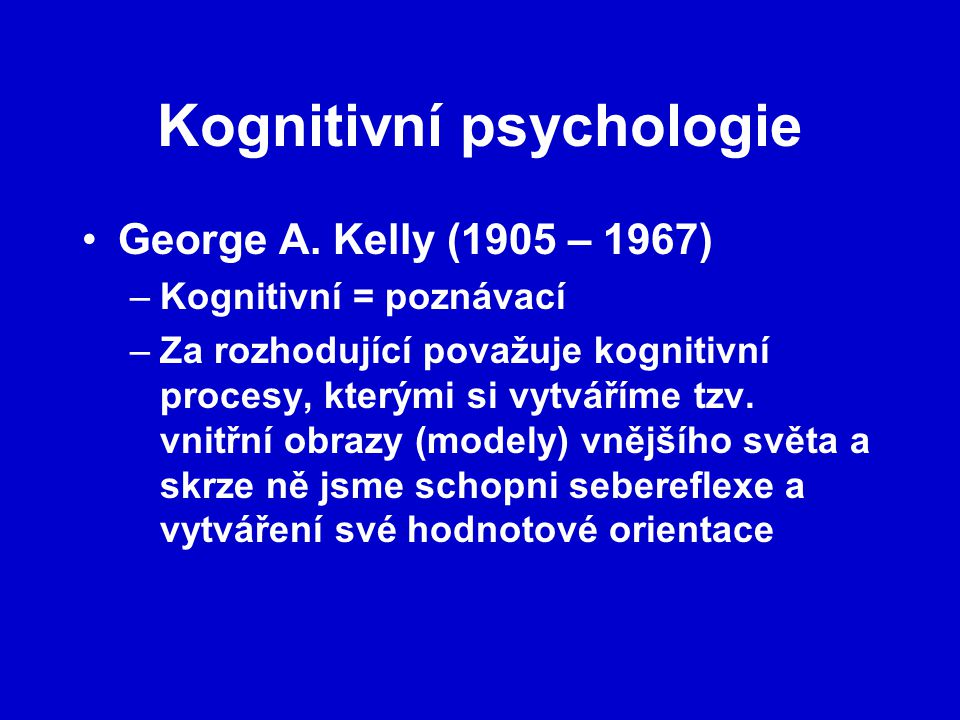 Kognitivní psychologie
