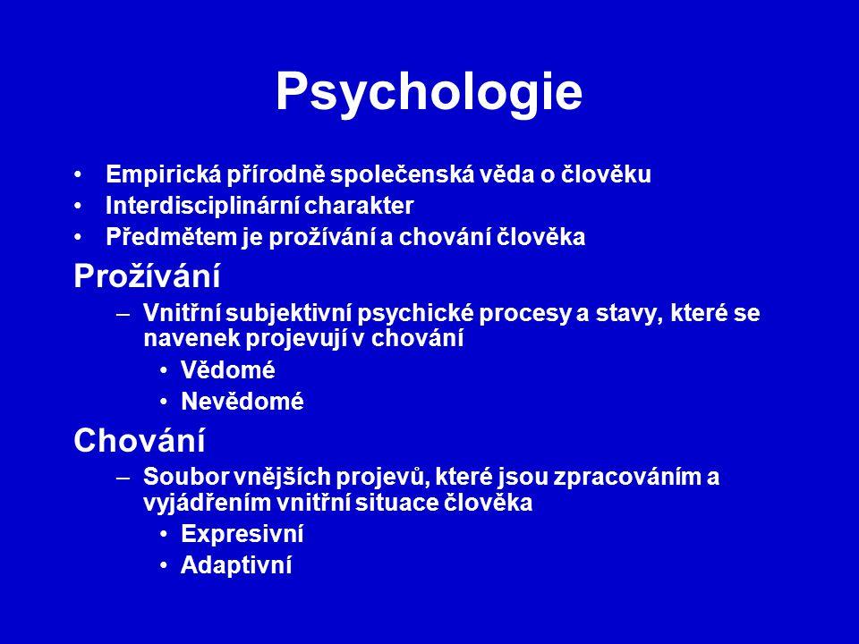 Psychologie Prožívání Chování