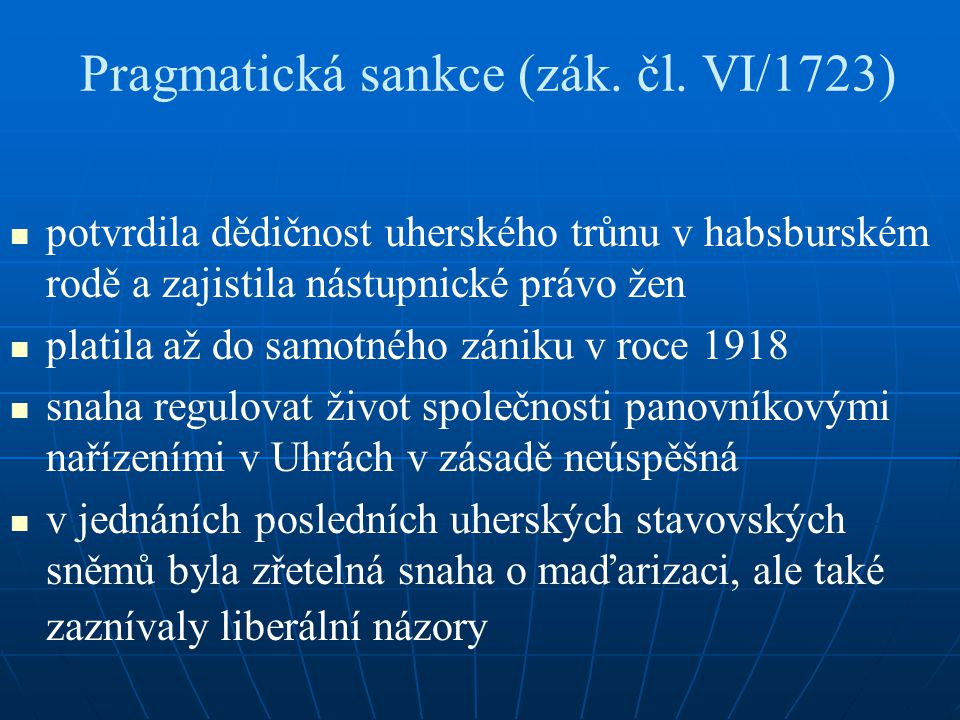 Pragmatická sankce (zák. čl. VI/1723)