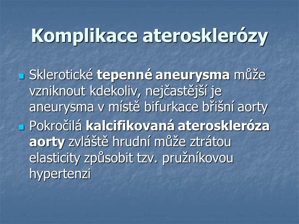 Komplikace aterosklerózy