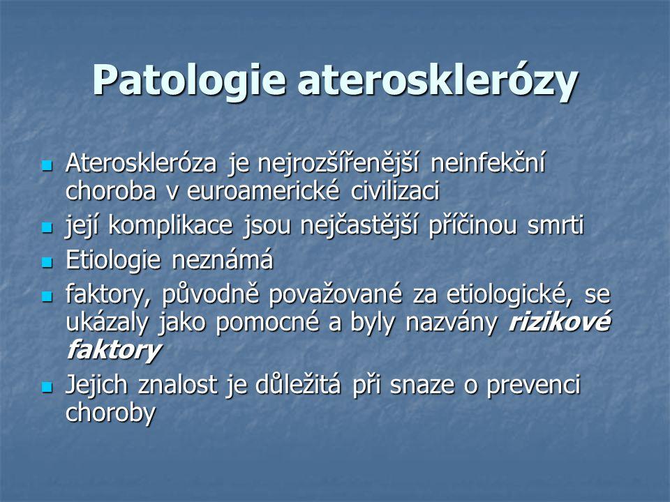 Patologie aterosklerózy