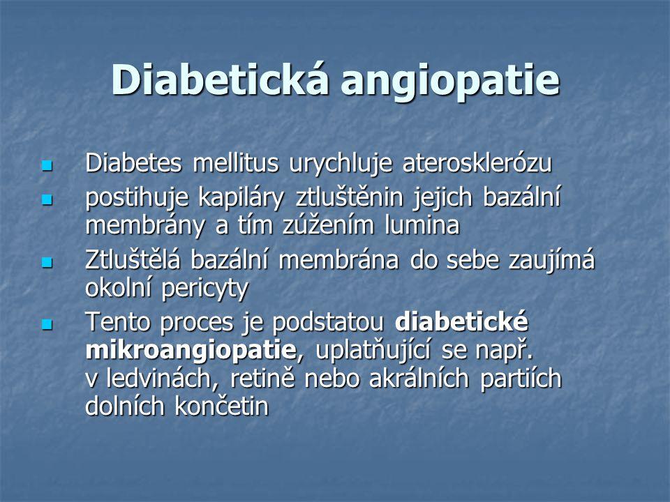 Diabetická angiopatie