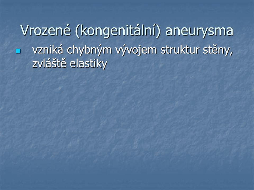 Vrozené (kongenitální) aneurysma
