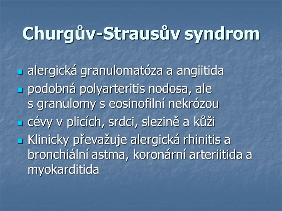 Churgův-Strausův syndrom