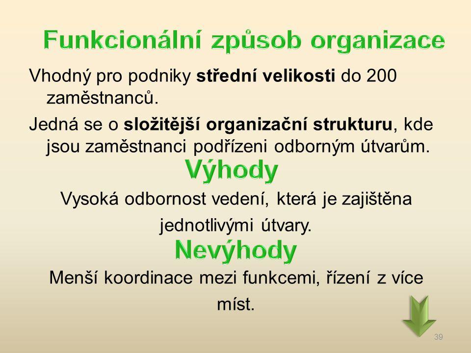 Funkcionální způsob organizace