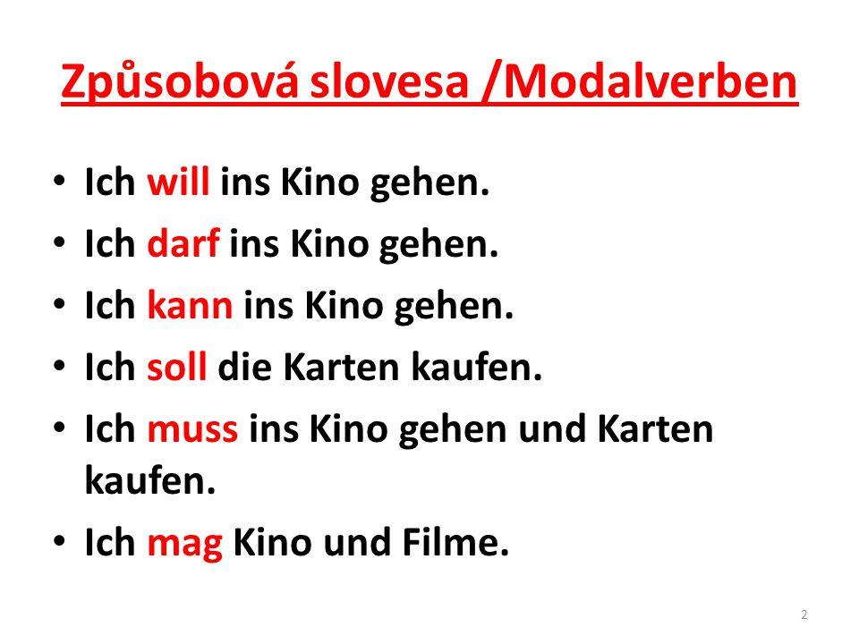 Způsobová slovesa /Modalverben