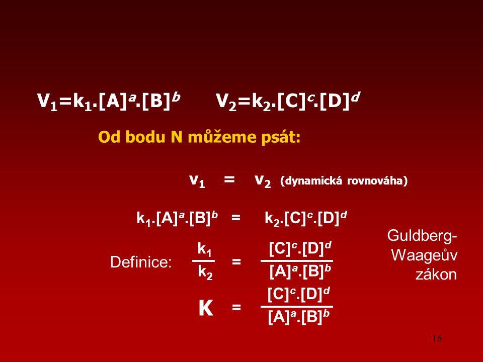 v1 = v2 (dynamická rovnováha)