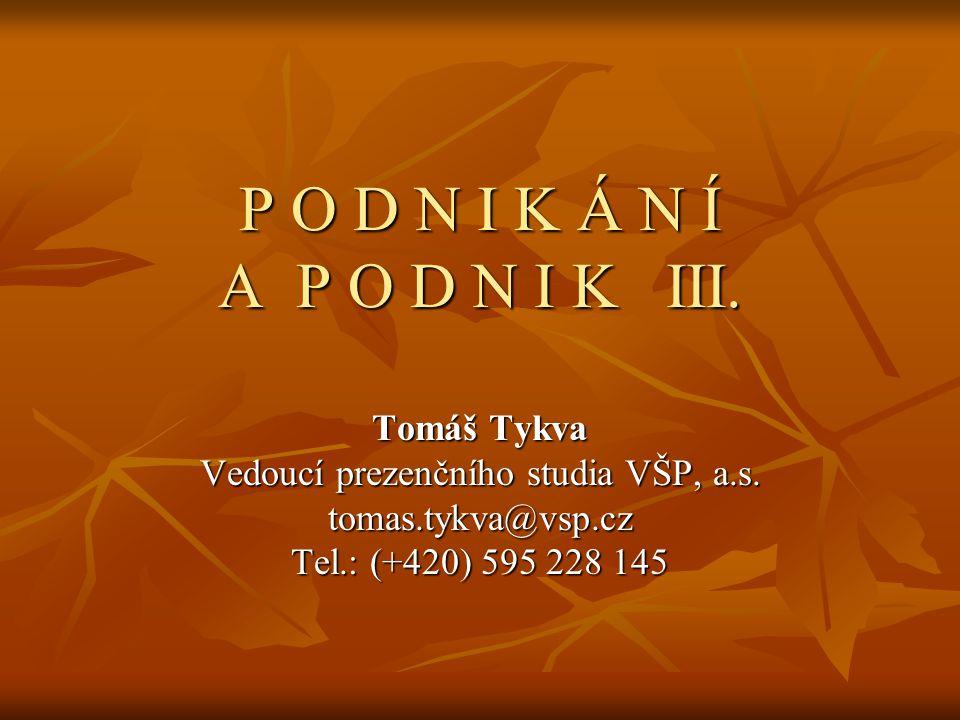 Vedoucí prezenčního studia VŠP, a.s.