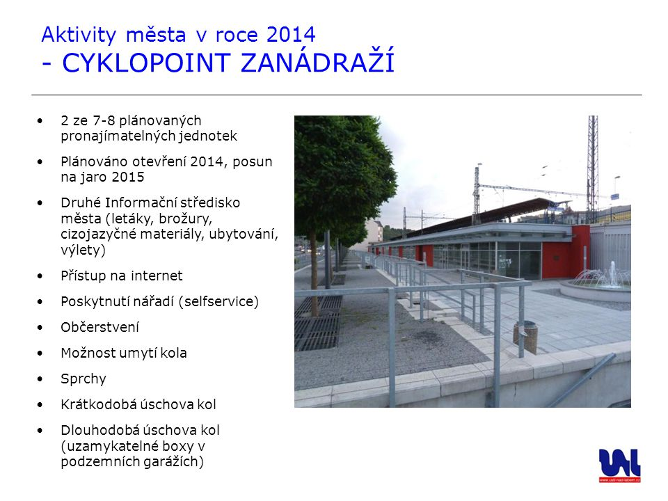 Aktivity města v roce 2014 - CYKLOPOINT ZANÁDRAŽÍ