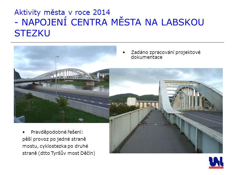 Aktivity města v roce 2014 - NAPOJENÍ CENTRA MĚSTA NA LABSKOU STEZKU