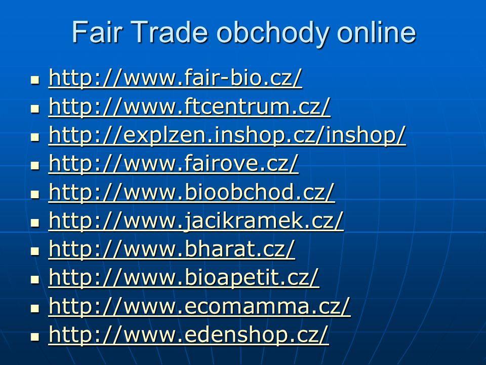 Fair Trade obchody online