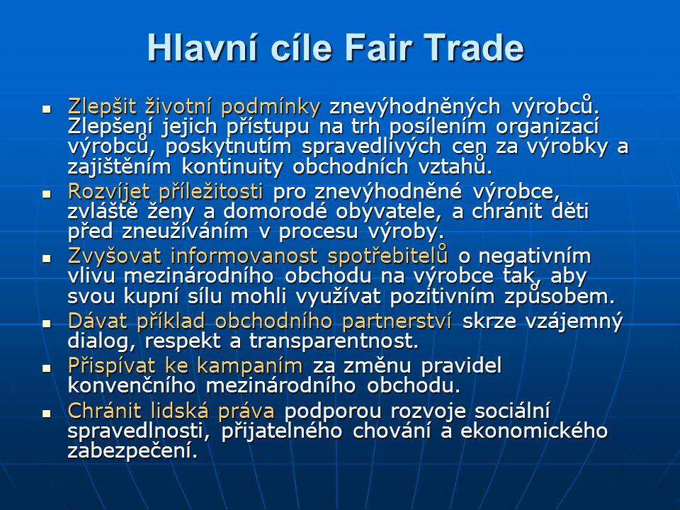 Hlavní cíle Fair Trade