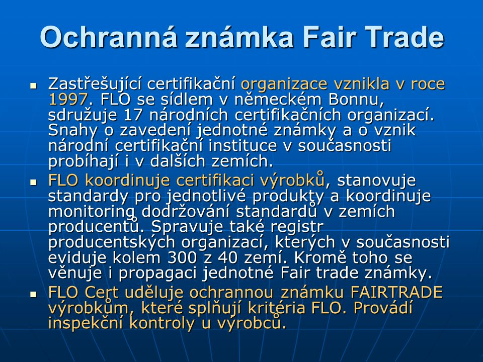 Ochranná známka Fair Trade