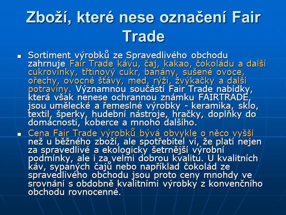 Zboží, které nese označení Fair Trade