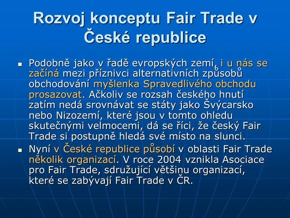 Rozvoj konceptu Fair Trade v České republice