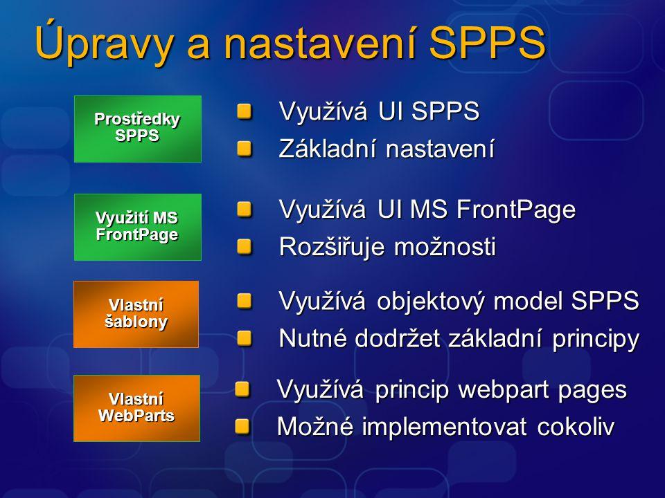 Úpravy a nastavení SPPS