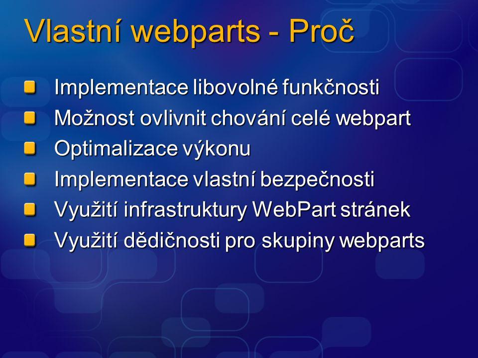 Vlastní webparts - Proč