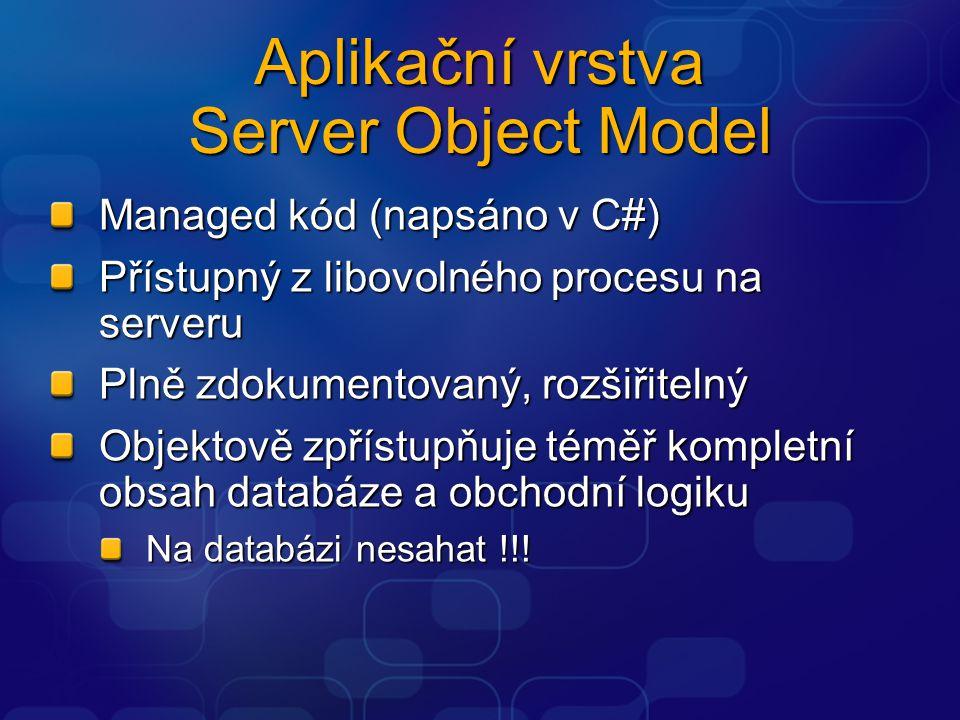 Aplikační vrstva Server Object Model