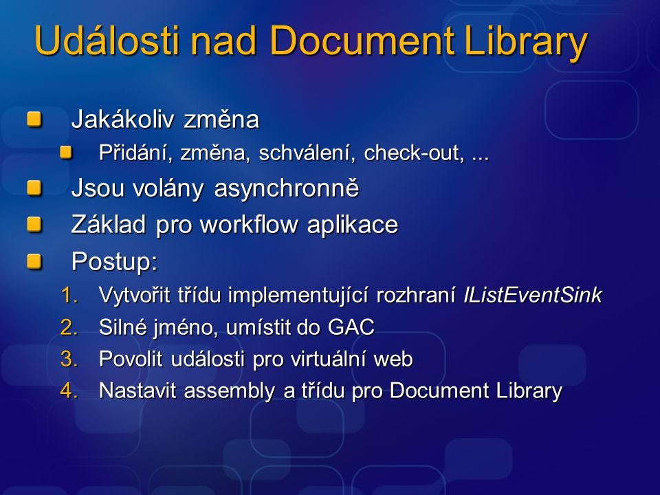 Události nad Document Library