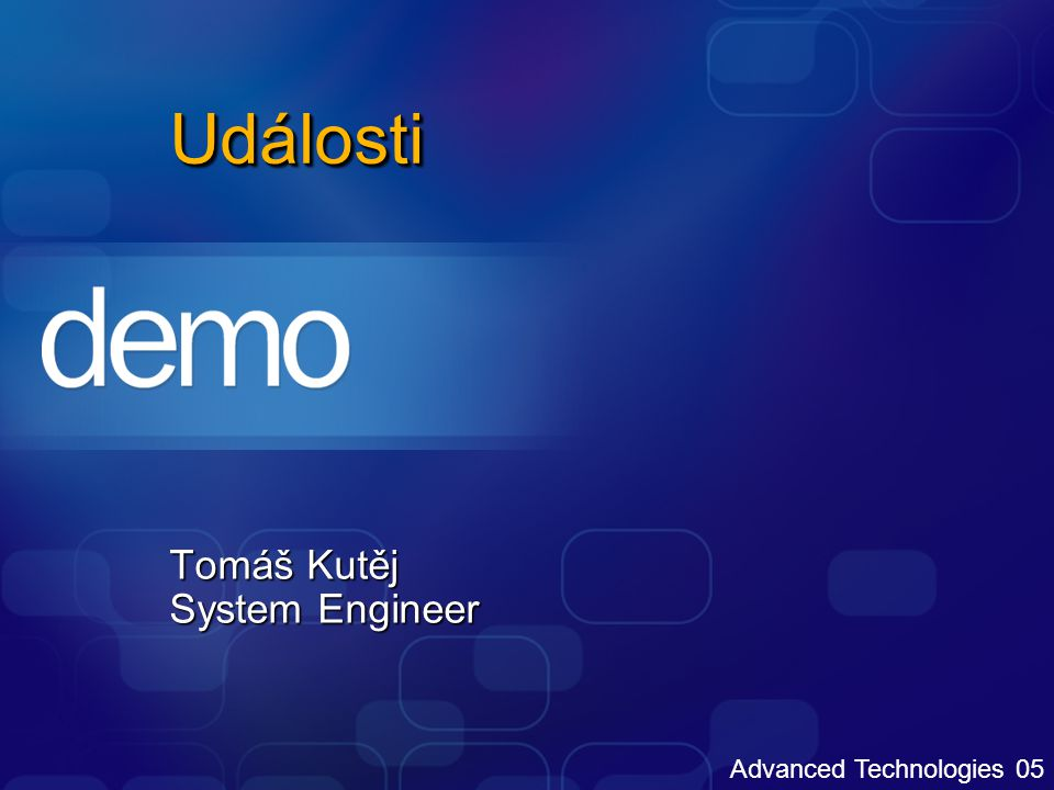 Windows Embedded Design Review Tomáš Kutěj System Engineer