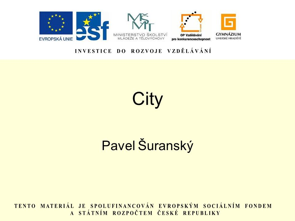 City Pavel Šuranský