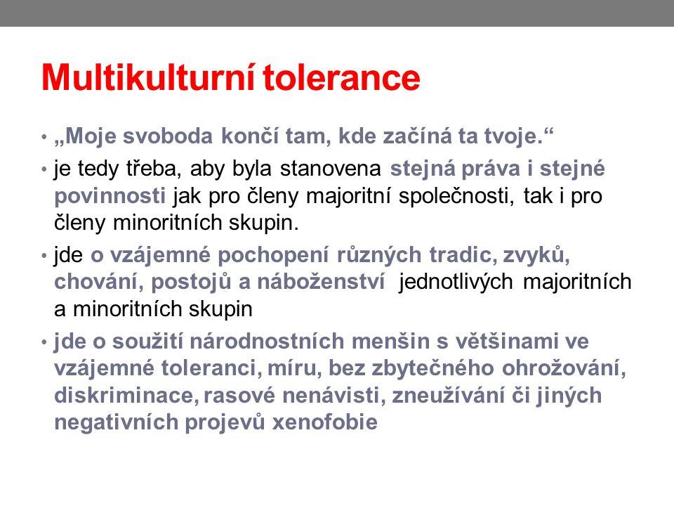 Multikulturní tolerance