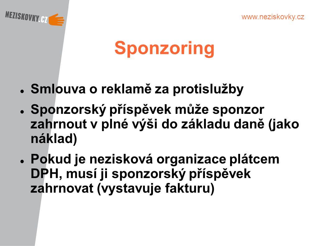 Sponzoring Smlouva o reklamě za protislužby