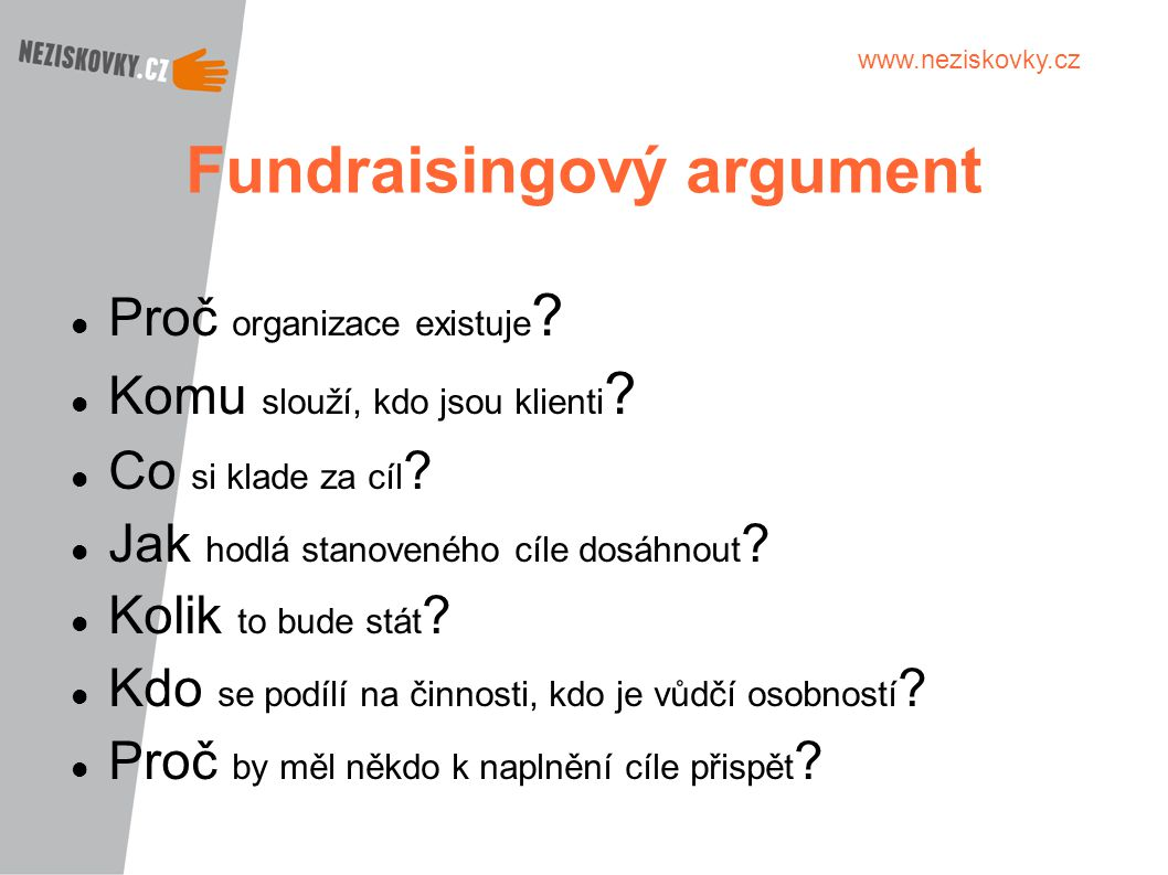 Fundraisingový argument