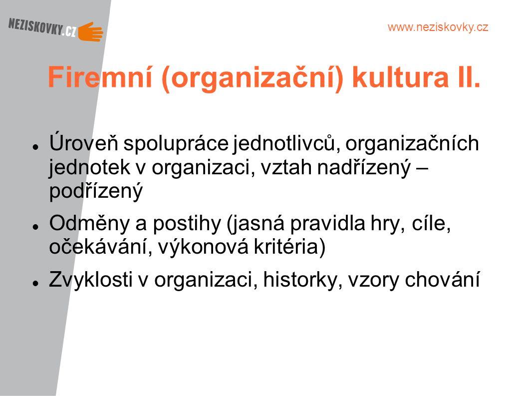 Firemní (organizační) kultura II.
