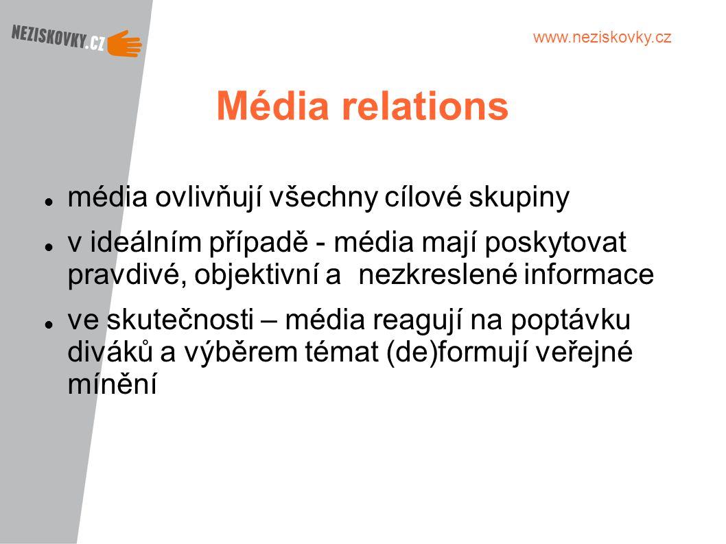 Média relations média ovlivňují všechny cílové skupiny