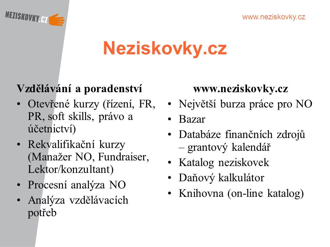 Neziskovky.cz Vzdělávání a poradenství