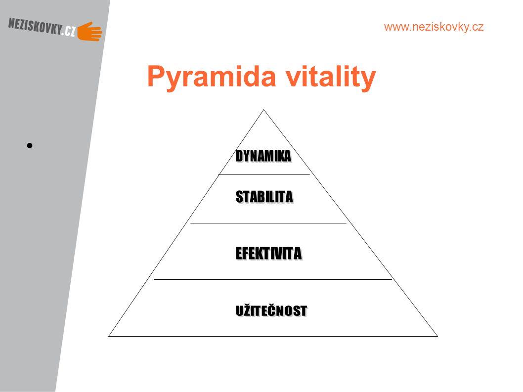 Pyramida vitality DYNAMIKA STABILITA EFEKTIVITA UŽITEČNOST