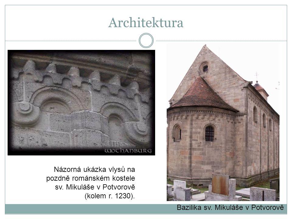Architektura Názorná ukázka vlysů na pozdně románském kostele