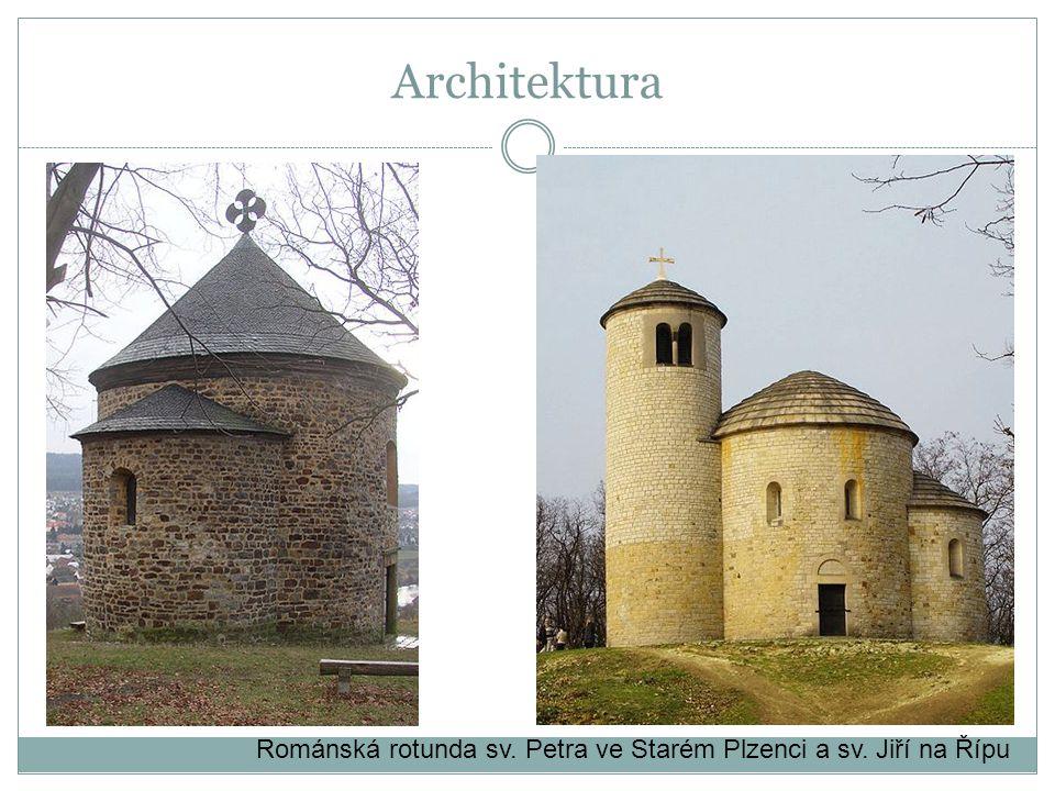 Architektura Románská rotunda sv. Petra ve Starém Plzenci a sv. Jiří na Řípu